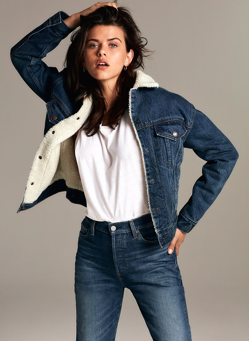 Denim Forum THE ELLA SHERPA JACKET | Aritzia
