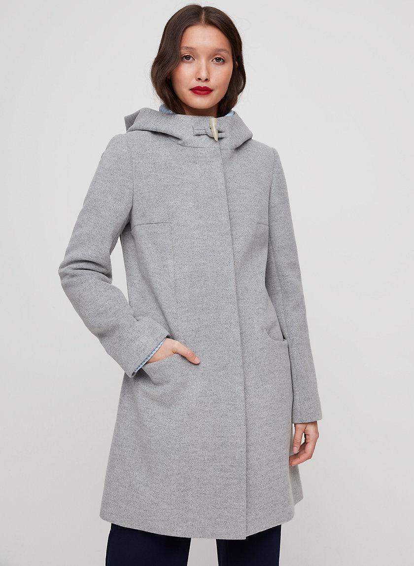 PEARCE COAT - Wool-blend coat with hood