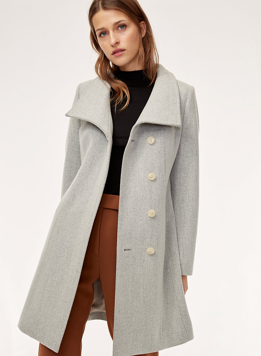 CRISTOBAL COAT - Belted, wool-cashmere coat