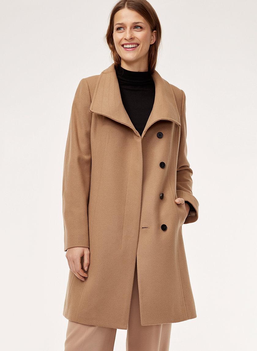 CRISTOBAL COAT - Belted, wool-cashmere coat