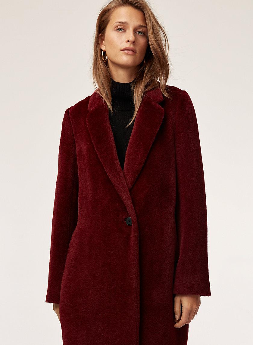 STEDMAN COAT - Mid-length, alpaca-wool coat