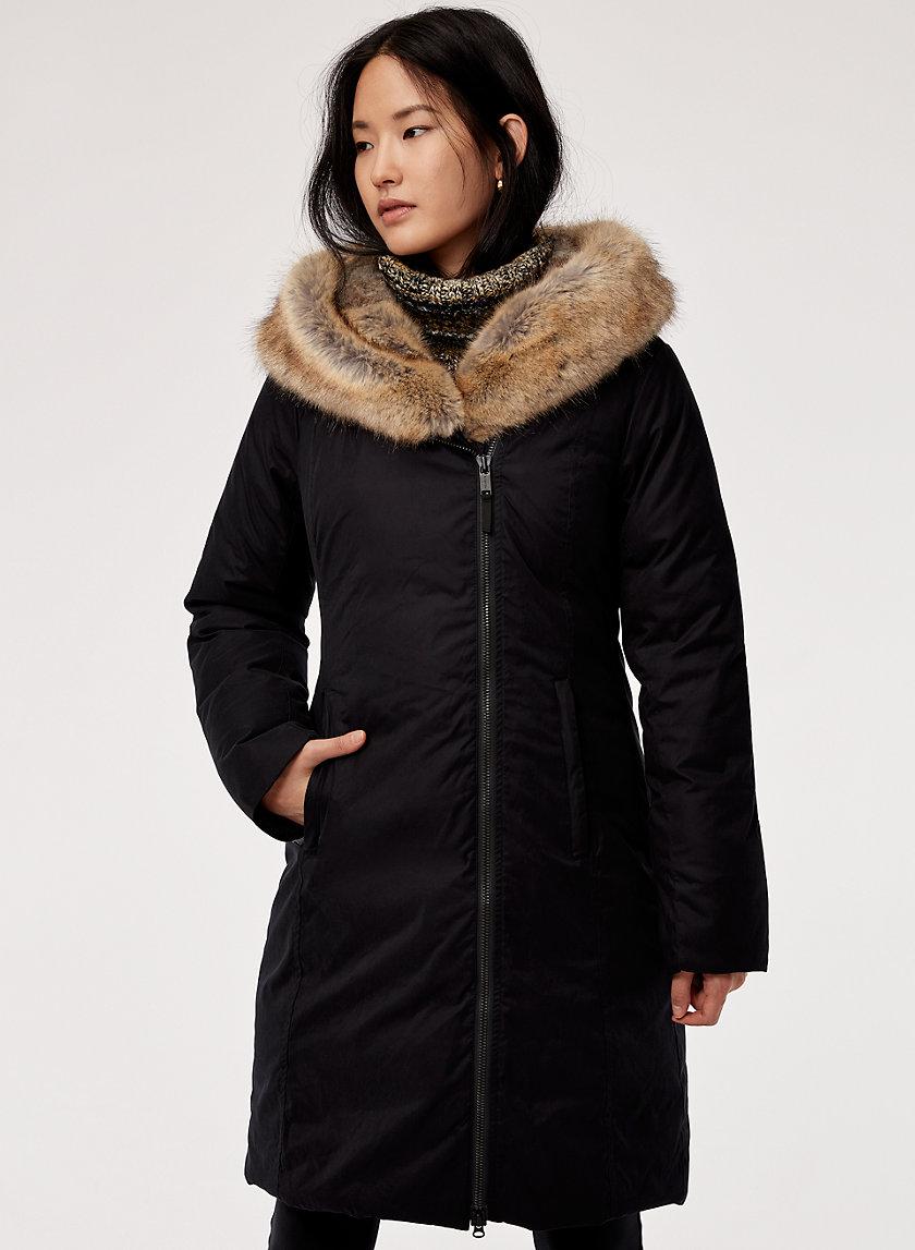 ST. MORITZ PARKA - Faux-fur lined, goose-down parka