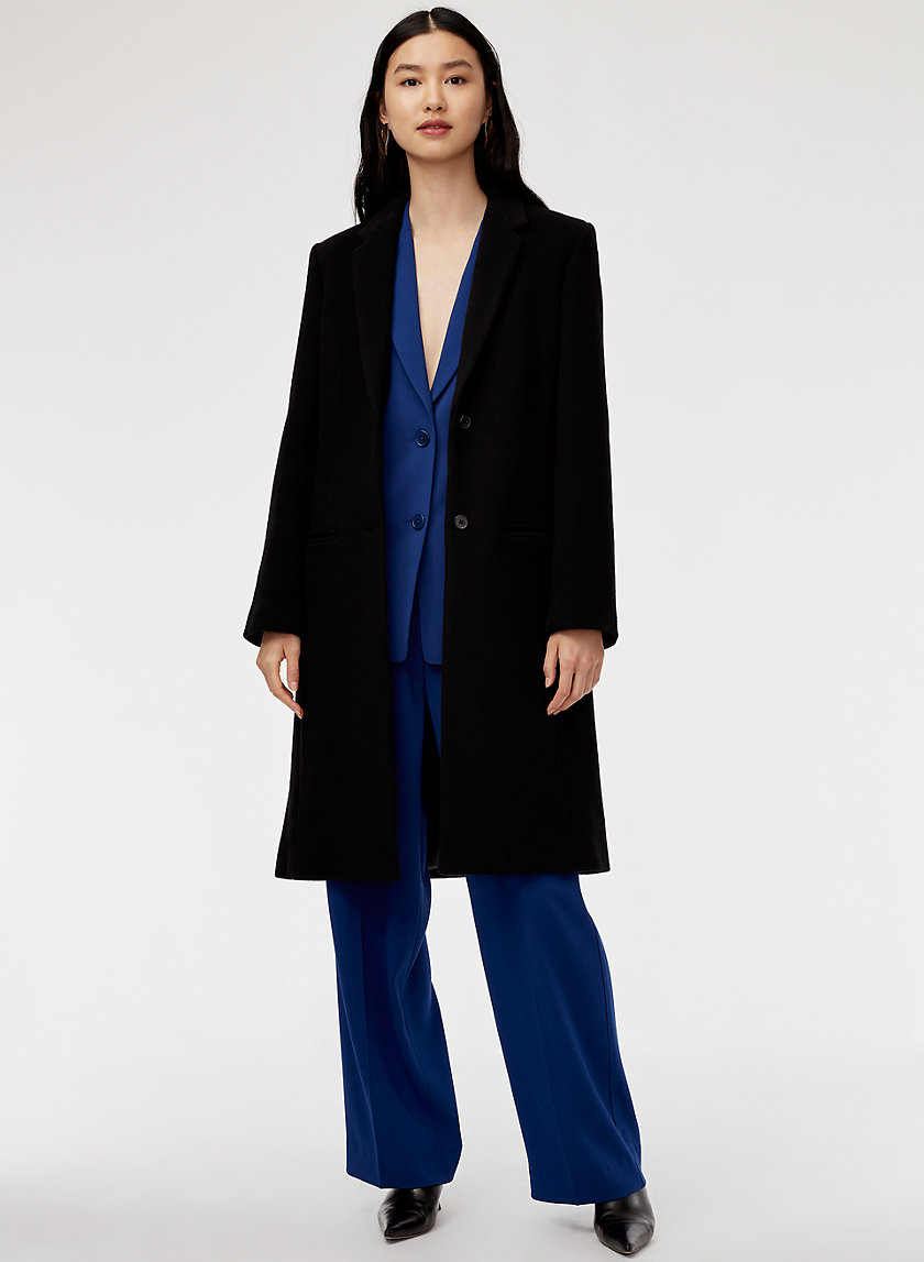JOSHUA WOOL COAT - Long, wool-cashmere coat