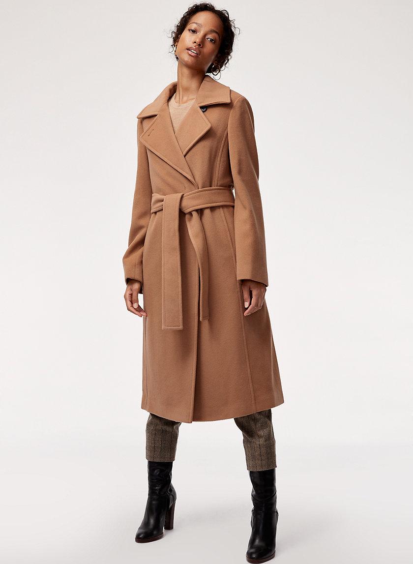 ROBBIE WOOL COAT LONG - Belted, virgin-wool coat