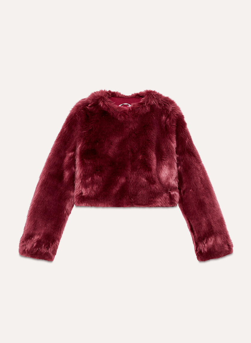 OWEN COAT - Cropped, faux-fur jacket