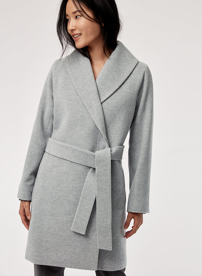SIAN WOOL COAT - Mid-length, belted wool coat