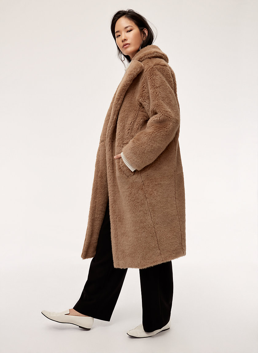 THE TEDDY COAT - Mid-Length Faux-Fur Coat