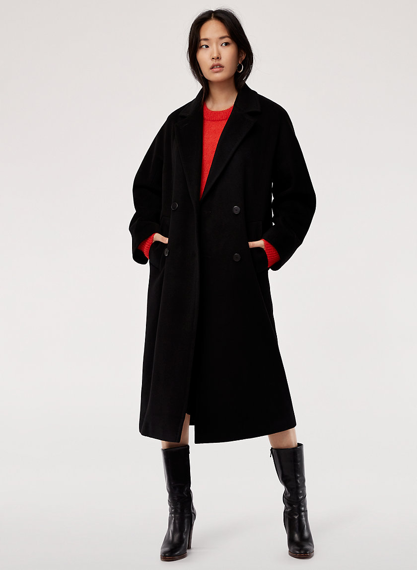 SLOUCH WOOL COAT - Oversized, double-breasted coat