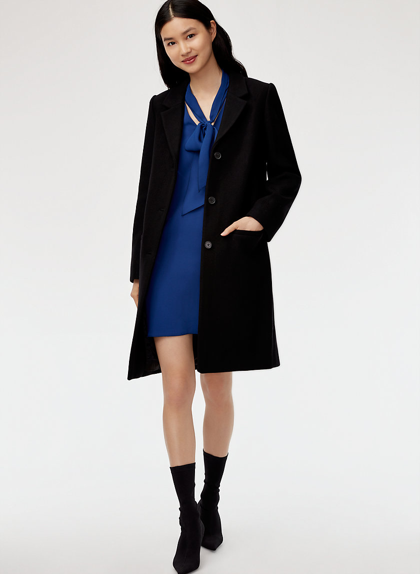 KELLAN WOOL COAT - Mid-length, wool-blend coat