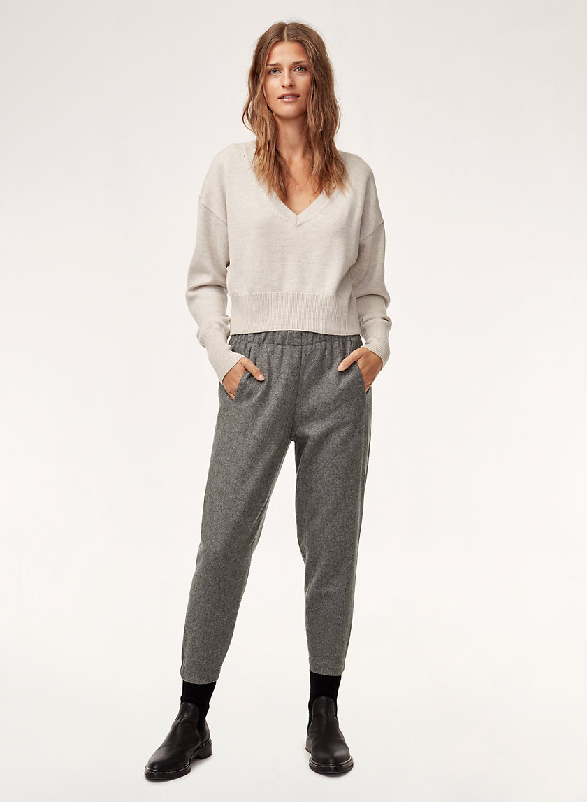 DEXTER PANT - Cropped, wool-blend dress pant
