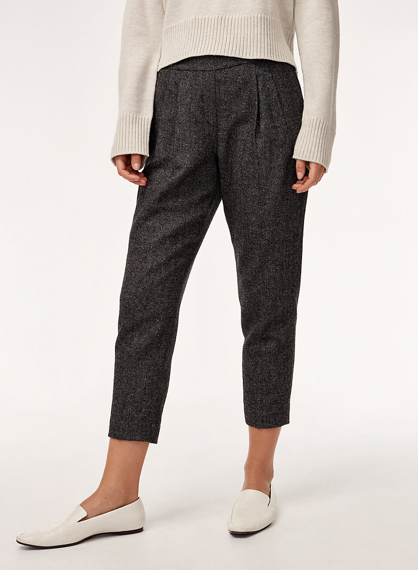 COHEN PANT WOOL - Cropped, wool-blend, pleated dress pant