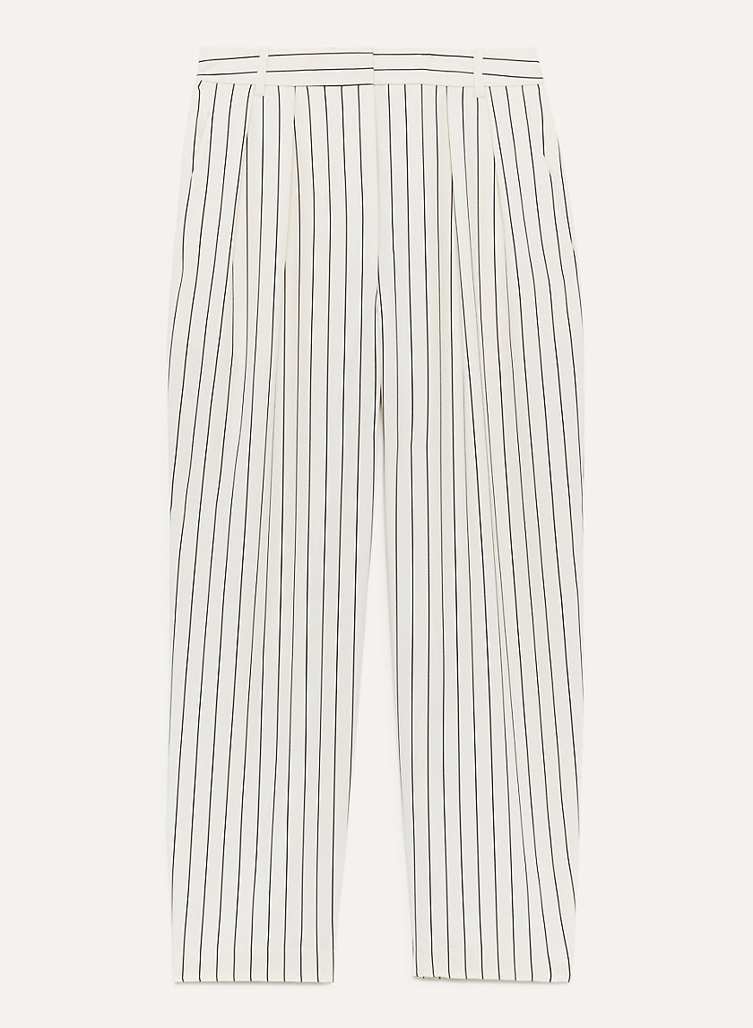 MODESTO PANT - Pinstripe, high-waisted trouser