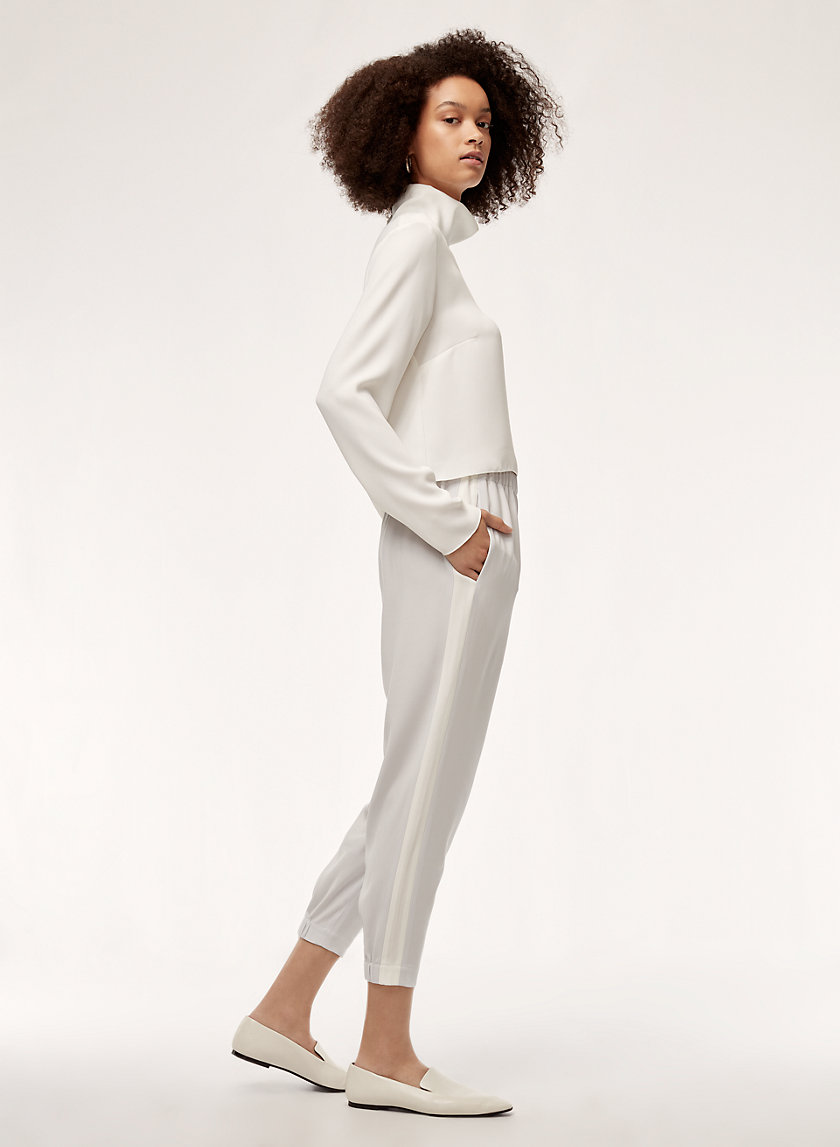 DEXTER PANT - Cropped dress pant with side stripe