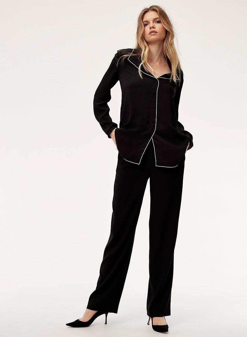 COHEN PANT - LONG - Pleated dress pant