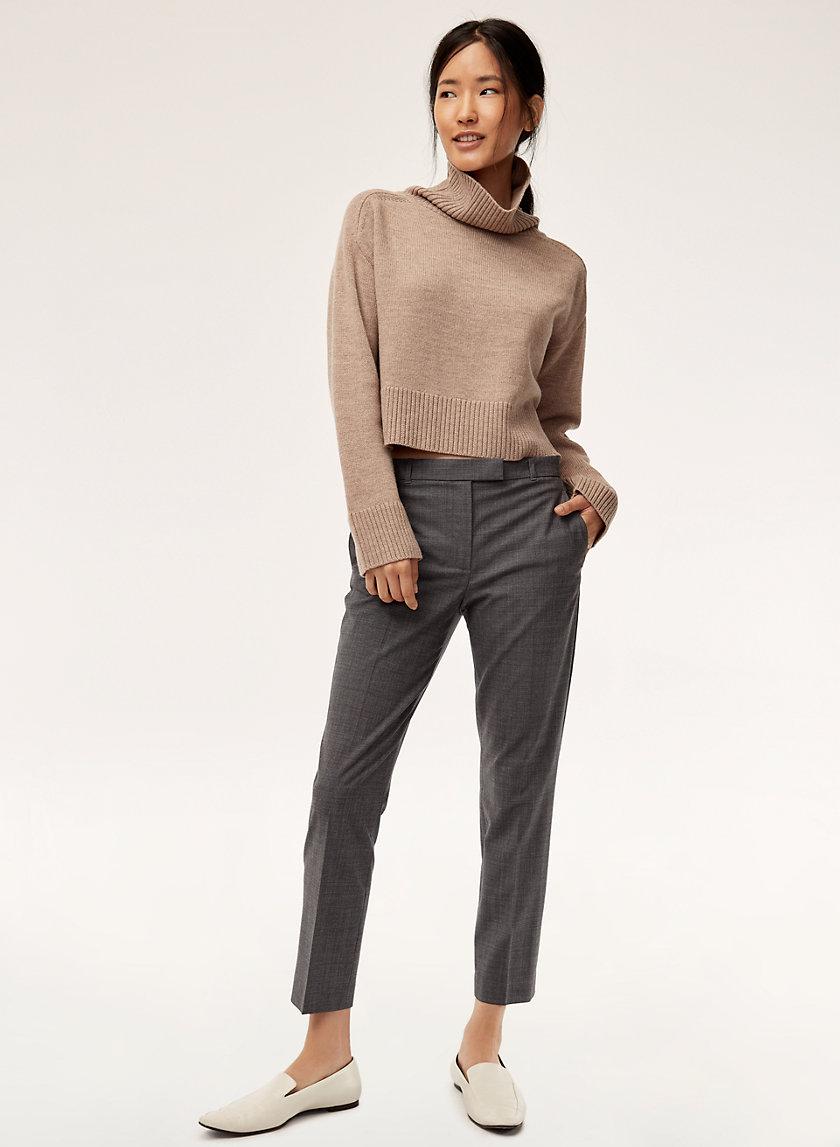 WESLEY PANT - Wool-blend cigarette pant