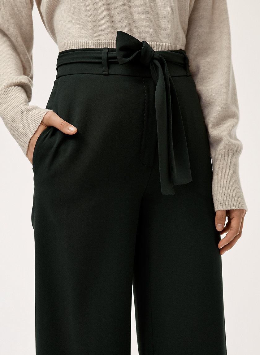 QUILLIAN PANT - High-waisted, wide-leg dress pant