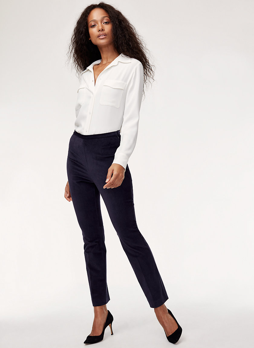 NIGEL PANT - High-waisted corduroy pant