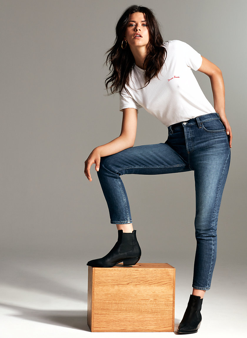 Denim Forum THE YOKO SLIM | Aritzia