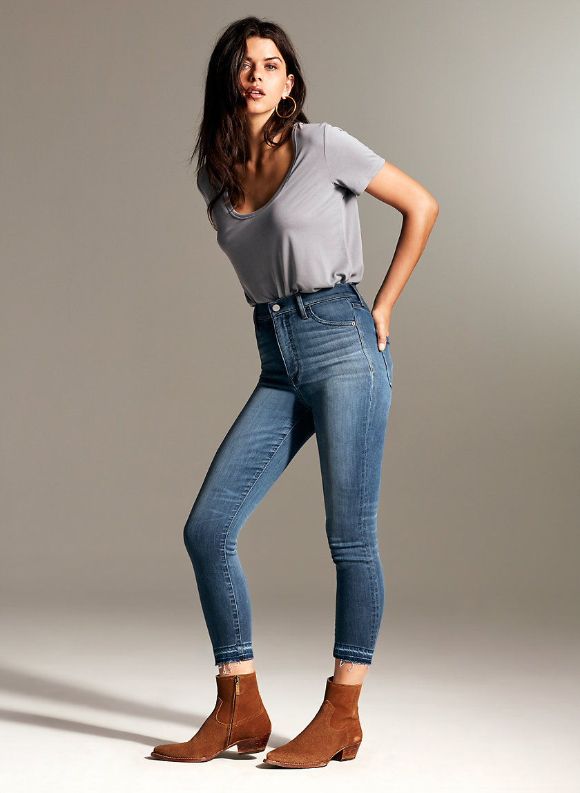 Denim Forum THE LOLA HIGH CROP | Aritzia