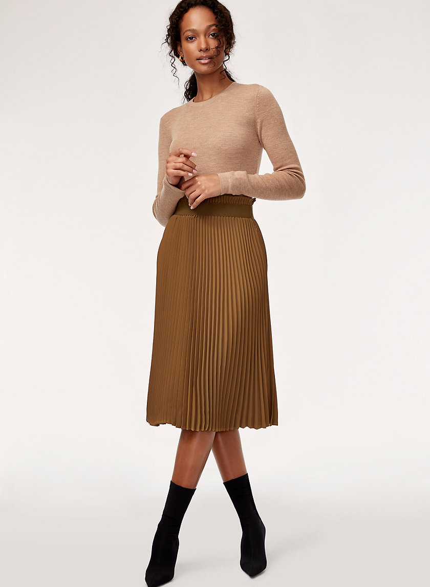 WESTIN SKIRT - Pleated midi skirt
