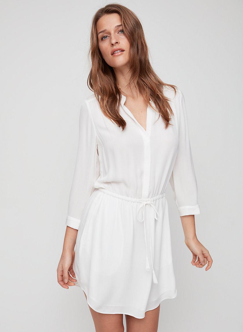 BENNETT DRESS - Silk shirt dress