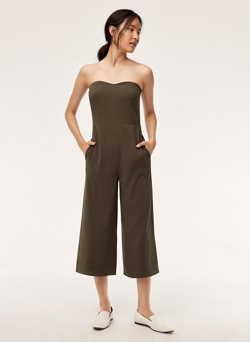 ROSHAN JUMPSUIT - Strapless, wide-leg jumpsuit