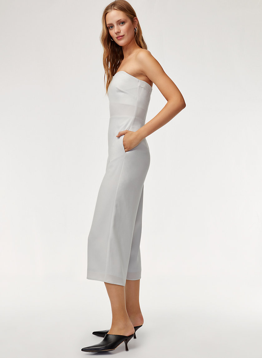 ROSHAN JUMPSUIT - Strapless, wide-leg jumpsuit