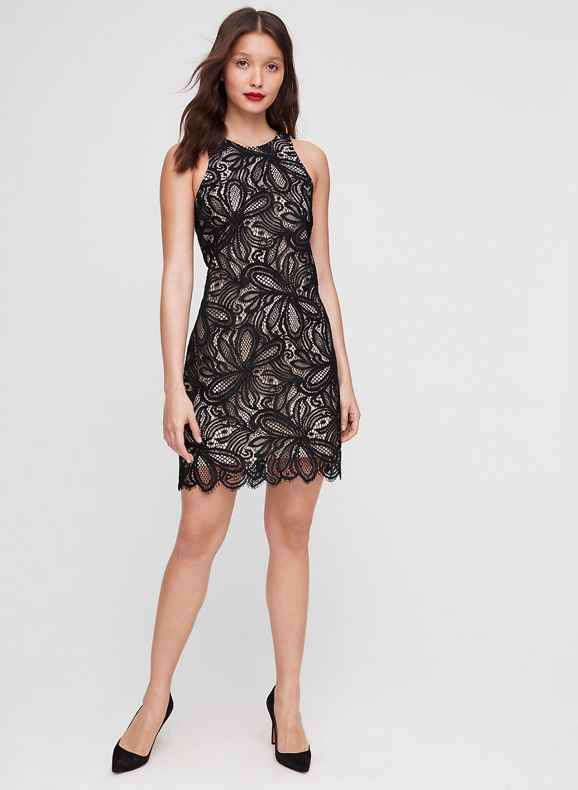 HENRY DRESS - Tailored, floral-lace mini dress