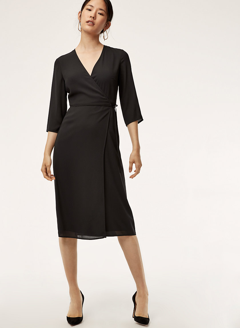THEO DRESS - Wrap midi dress
