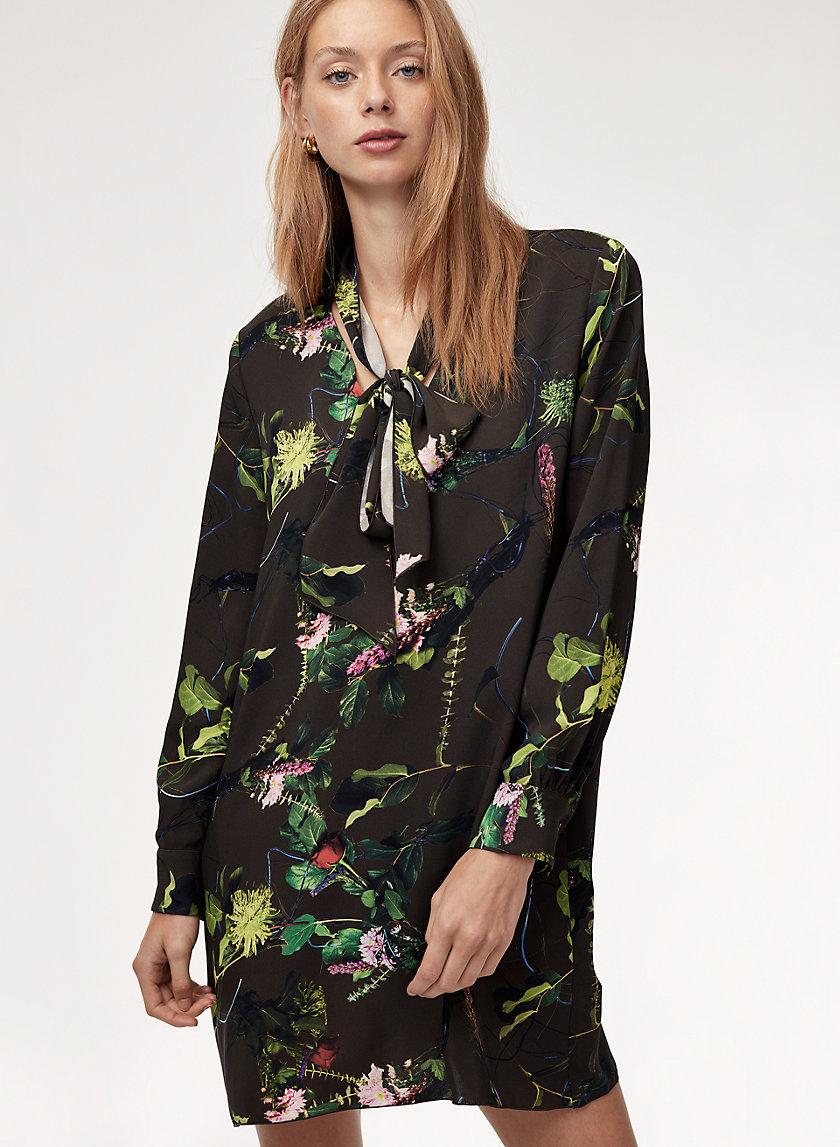 REUBEN DRESS - Long-sleeve floral mini dress