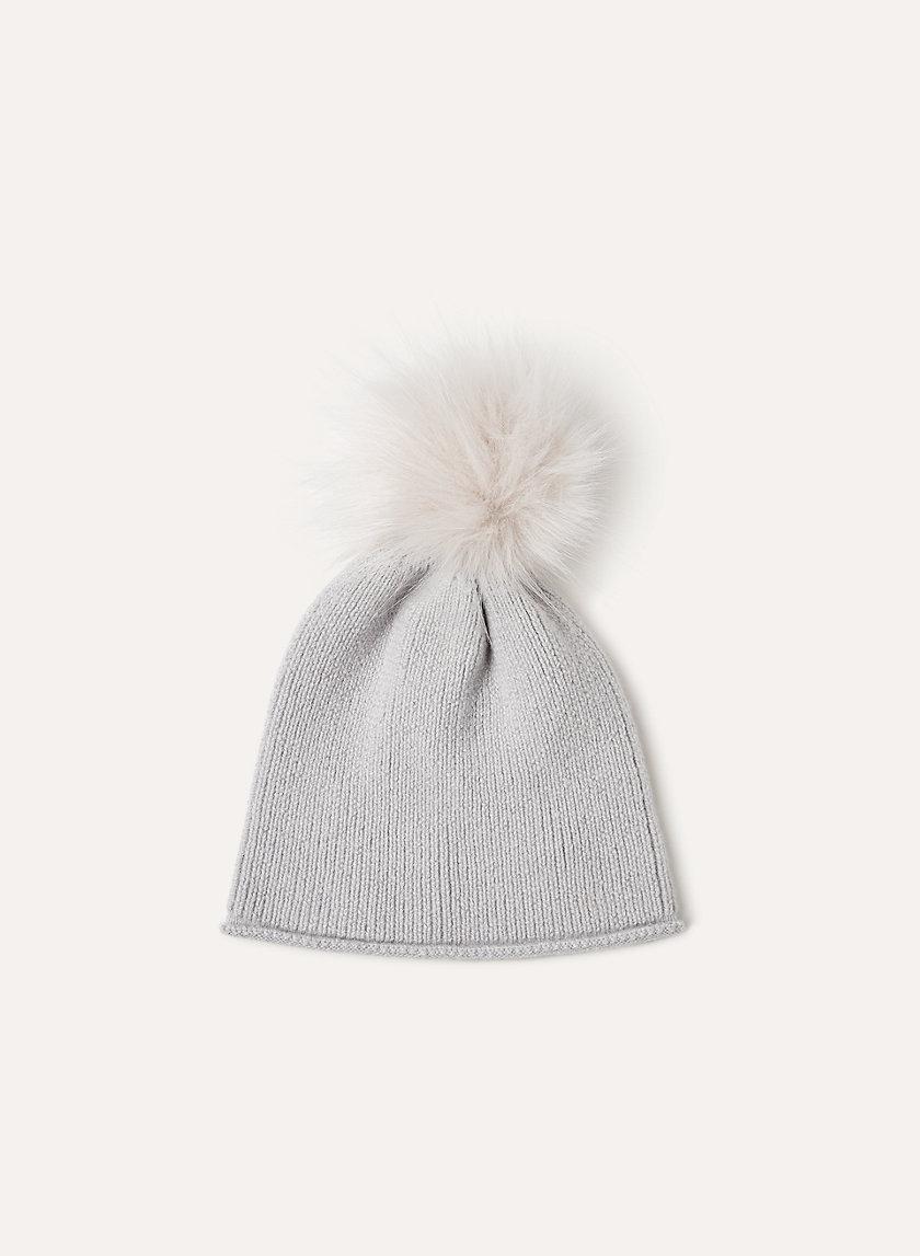 ELANA BEANIE - Pom, knit beanie