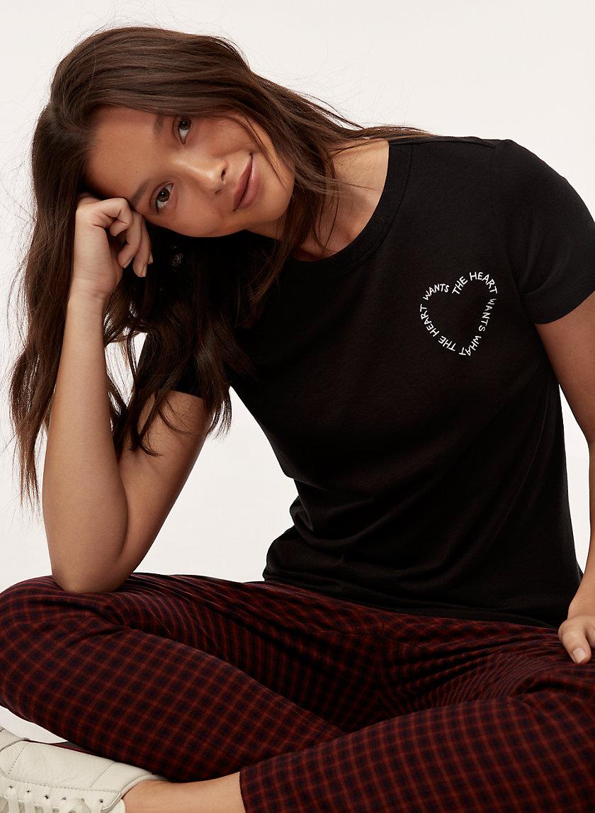 "CANDY T-SHIRT - ""The heart wants what the heart wants"" t-shirt"