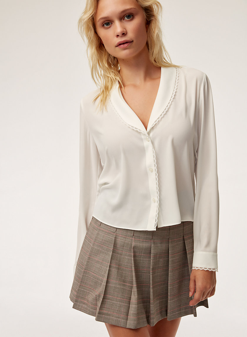 ZAZIE BLOUSE - Cropped, button-down shirt