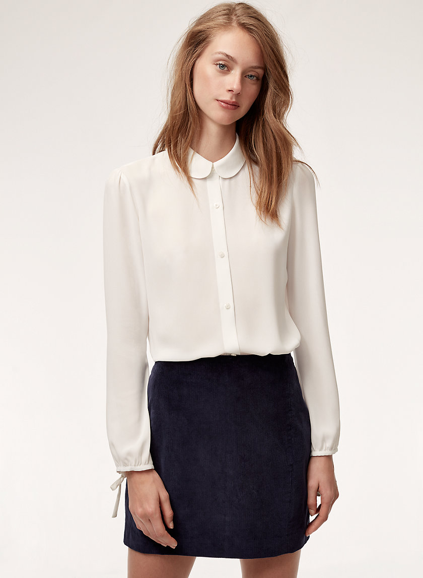 MOLL BLOUSE - Peter pan collared shirt