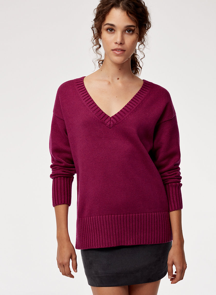 Talula RELAXED V SWEATER | Aritzia