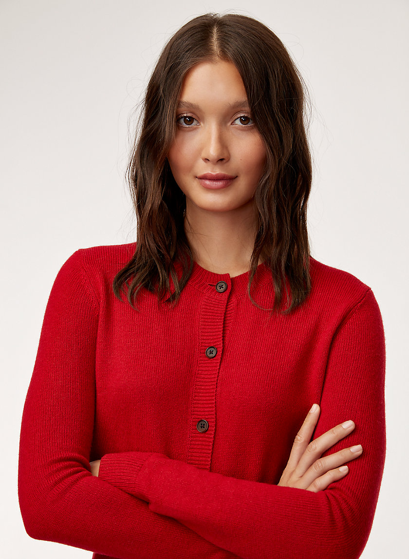 ABIGAIL CARDIGAN - Fitted, button-up cardigan