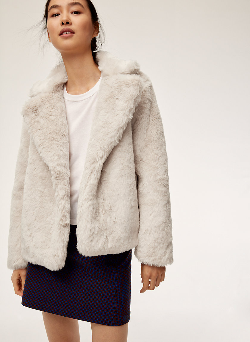 DOROTHY COAT - Faux-fur coat