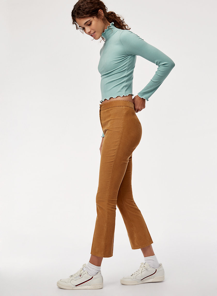 CASSIE PANT - Cropped corduroy pant
