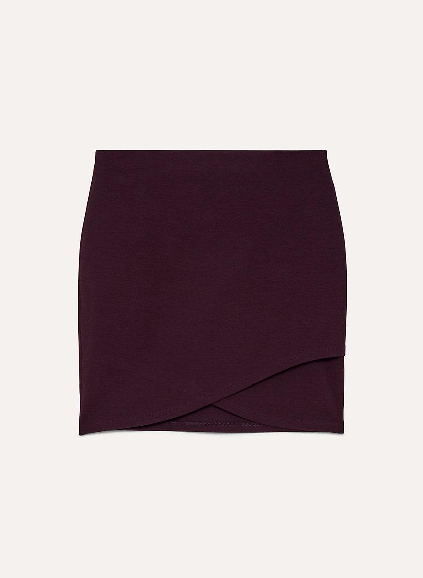 PRIMROSE SKIRT - Faux-wrap mini skirt