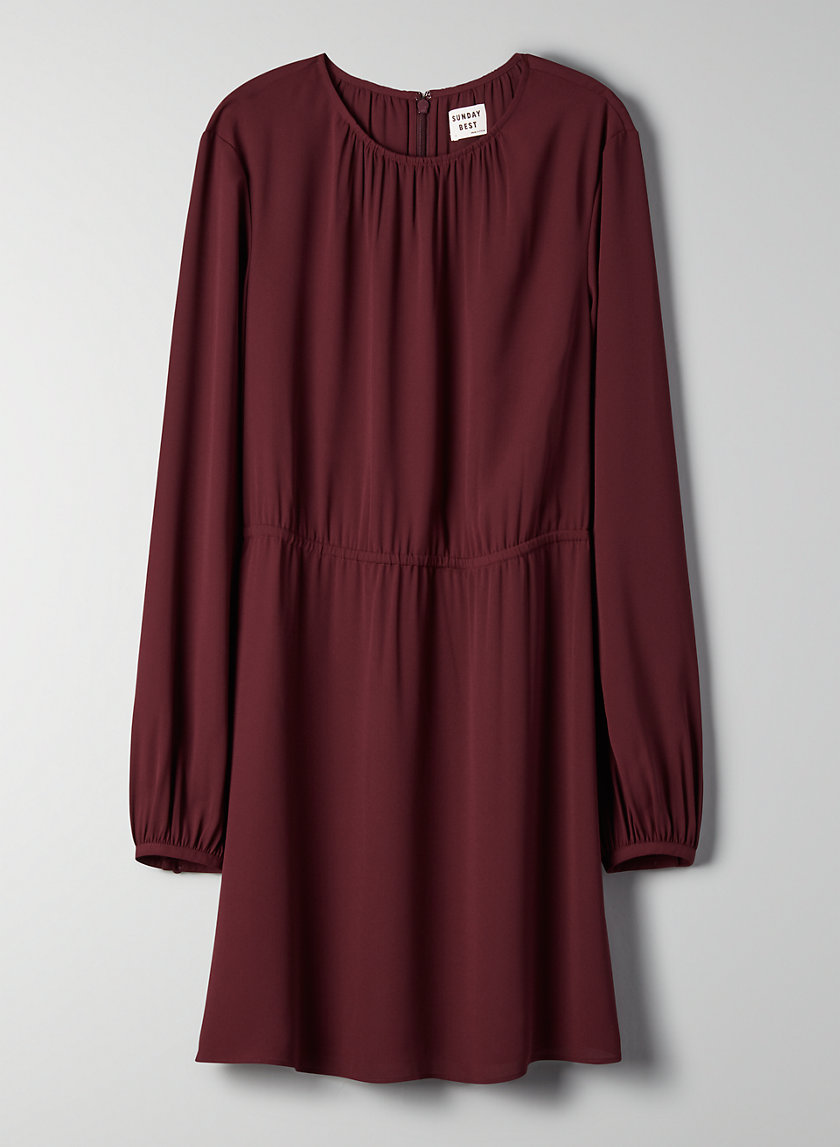 POPPINS DRESS - Long-sleeve, cinched dress