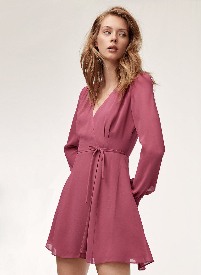 ALEXI DRESS - Long-sleeve wrap dress