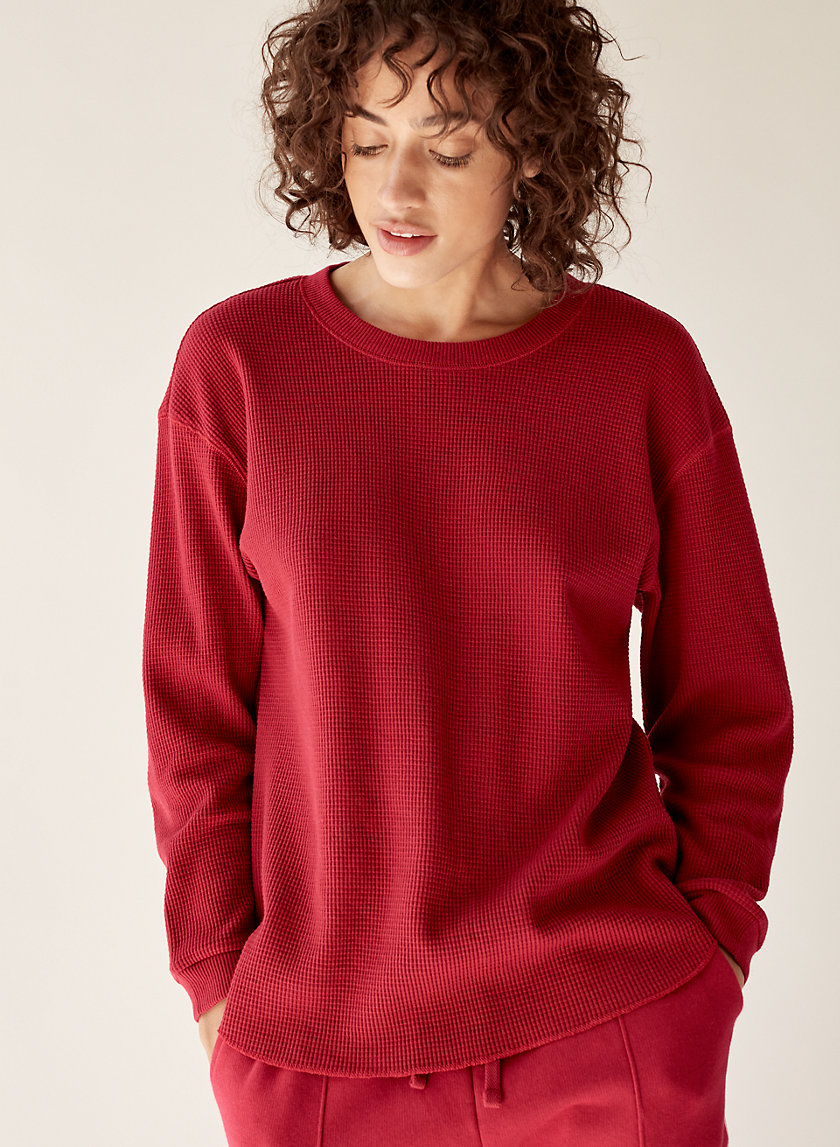 MCKAY THERMAL - Round-hem, waffle-knit thermal