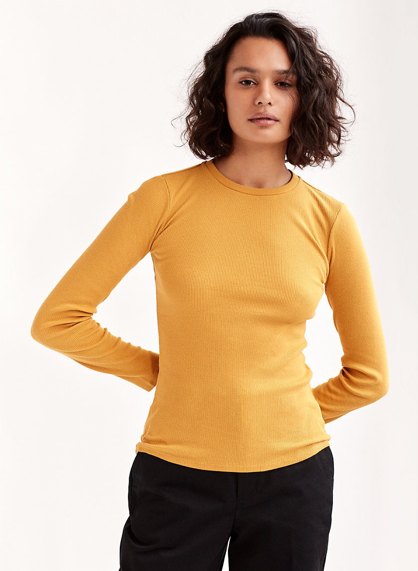 KYLAN T-SHIRT - Long-sleeve, ribbed t-shirt