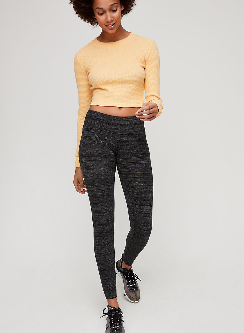 ALANA THERMAL - Cropped, waffle-knit thermal