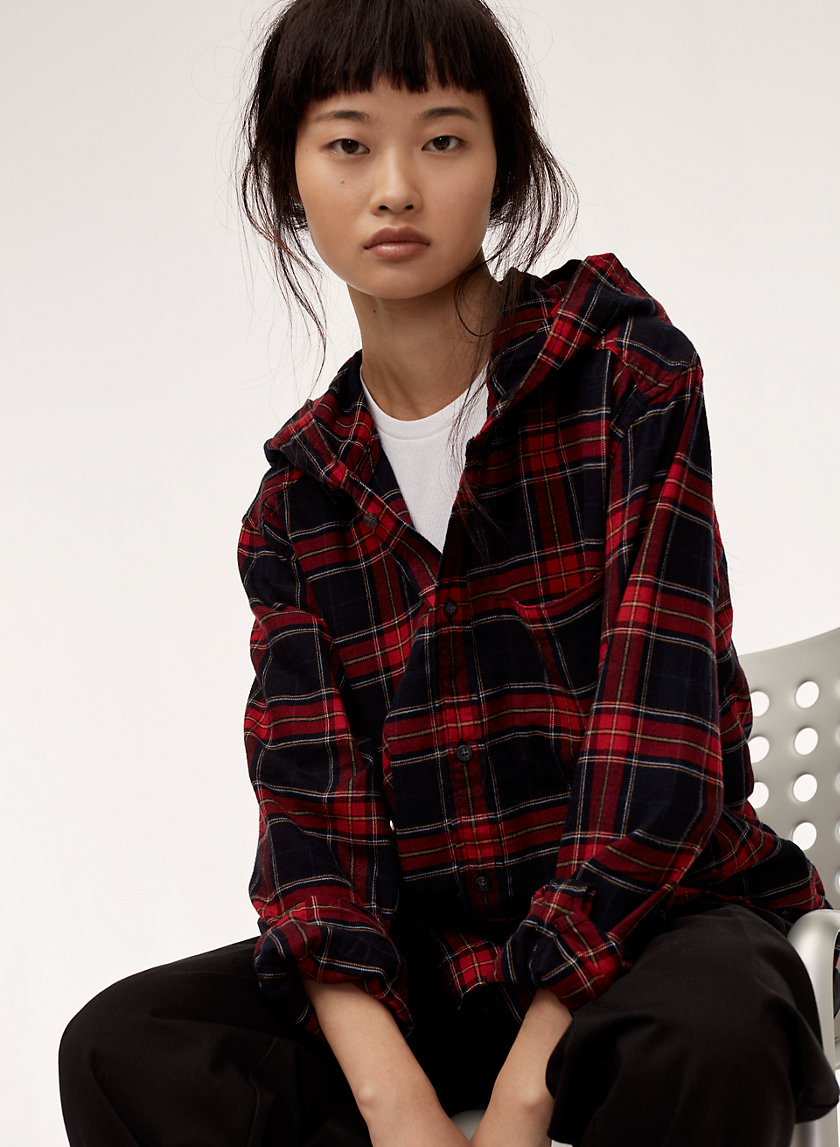 Tna THE HOODED FLANNEL | Aritzia