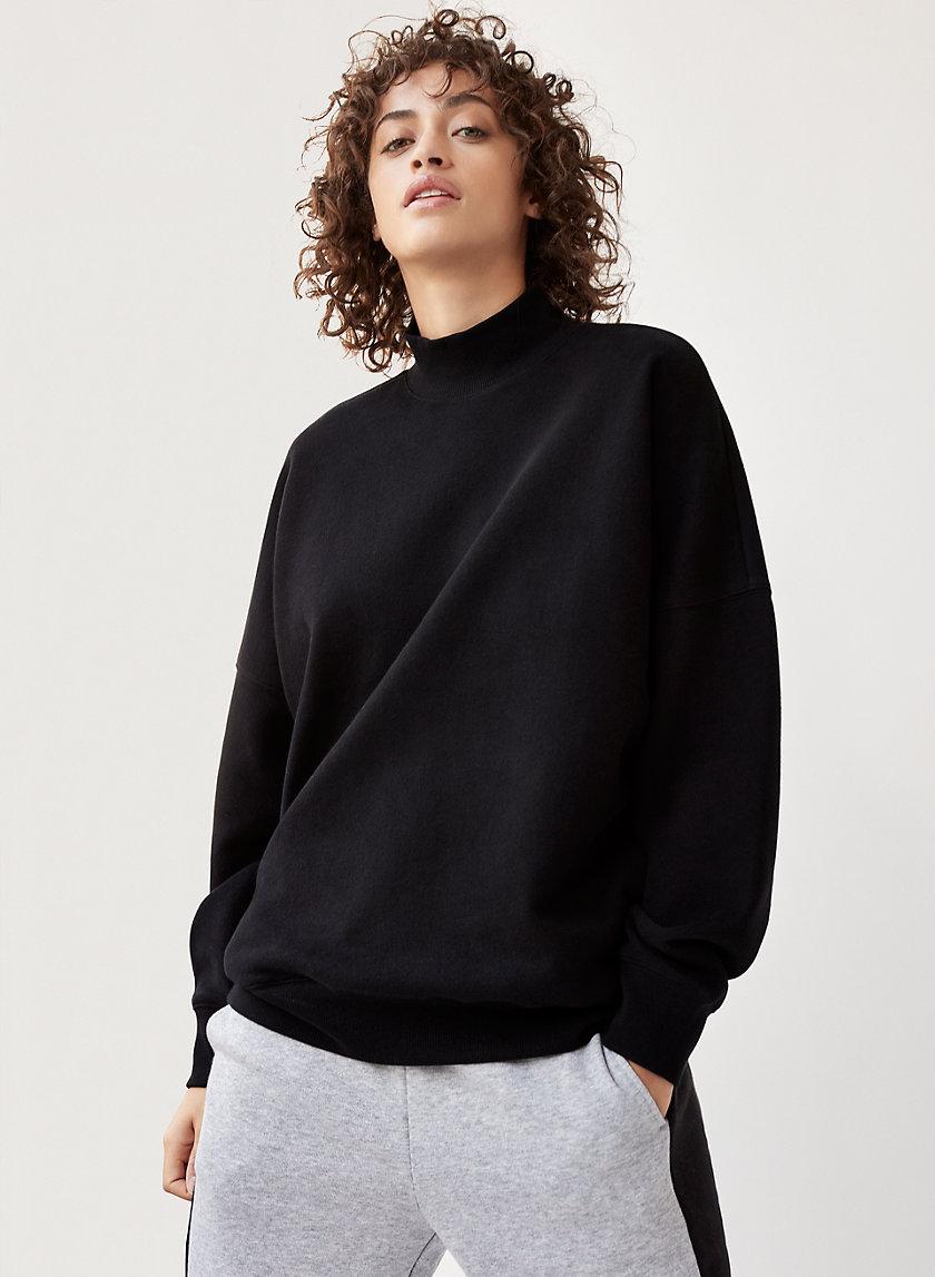MADERA SWEATER - Oversized, mock-neck sweatshirt