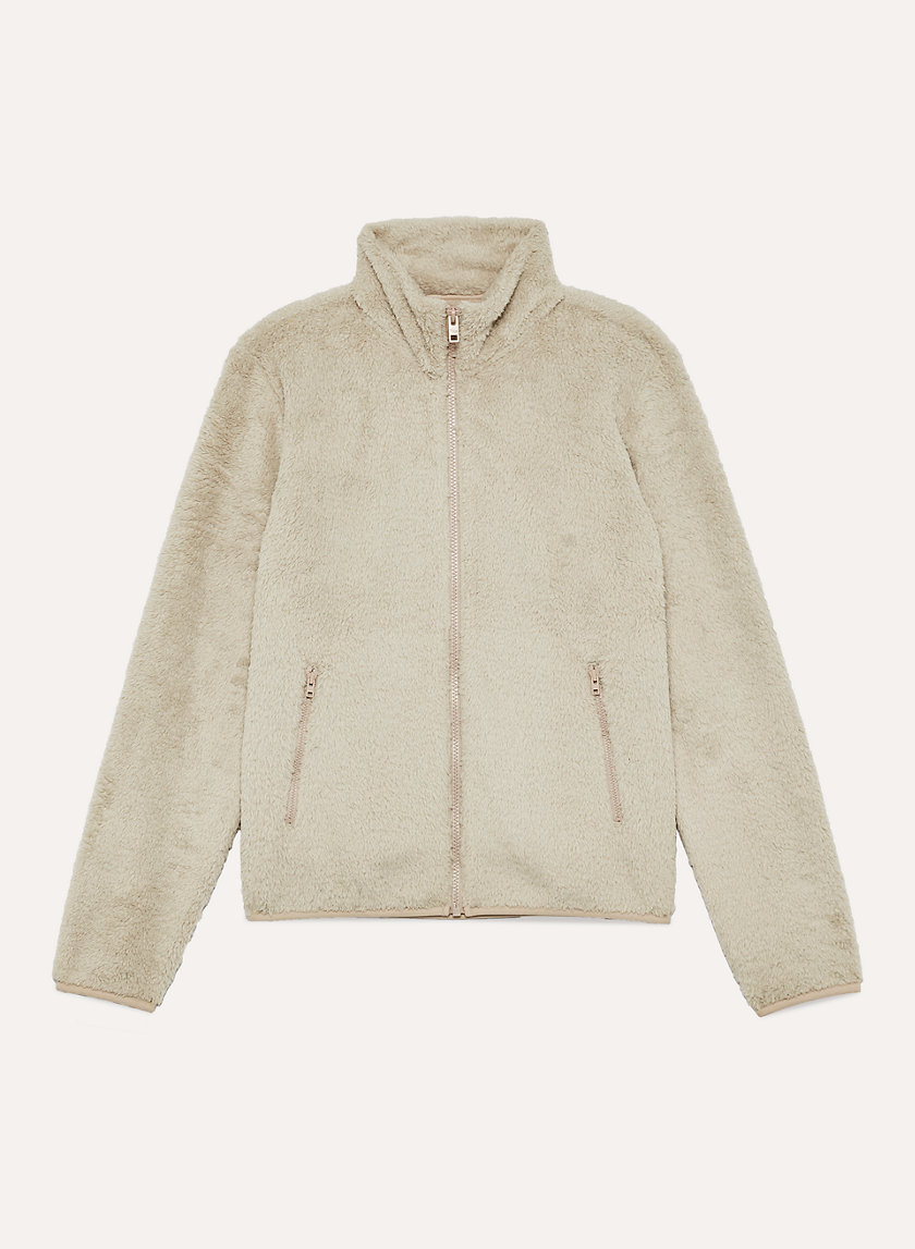 THE TEDDY MOCK NECK - Fleece zip-up jacket
