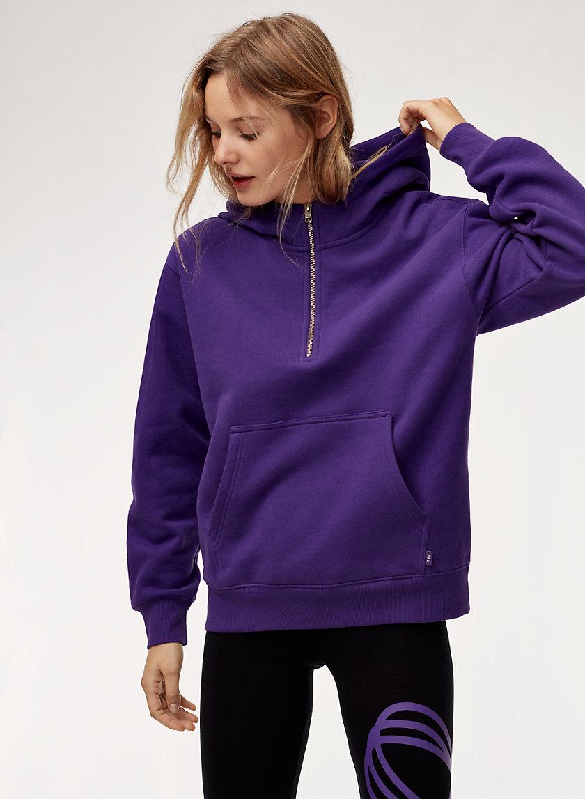 THE PERFECT HOODIE ZIP - Half zip, pullover hoodie