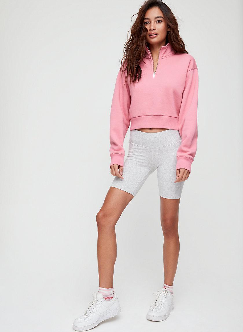 MONTEVIEW SWEATER CROP - Cropped, quarter-zip sweatshirt