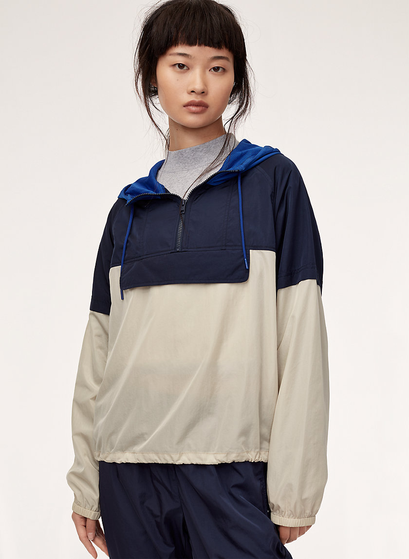 SHERWOOD JACKET - Packable, half-zip windbreaker